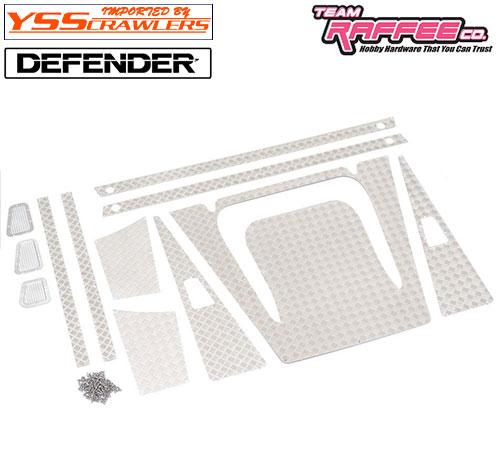 YSS TRC ダイアモンドプレートセット [シルバー] for TRC ディフェンダー D90 D110 ワゴン!