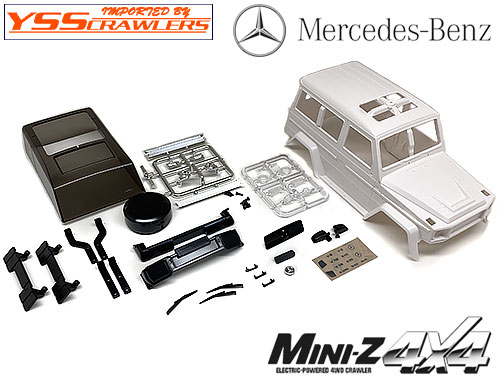 YSS TRC メルセデスベンツ Gクラス プラスチックボディー for Mini-Z 4x4!