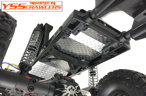 YSS アンダーパネルセット V1 For Axial SCX10-II![シルバー]