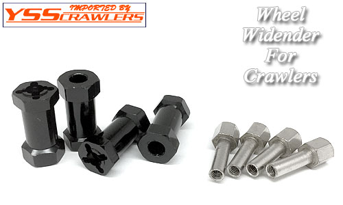 YSS Crawlers 25mm Hubs for Axial SCX10! [Widener][4pcs][Black]