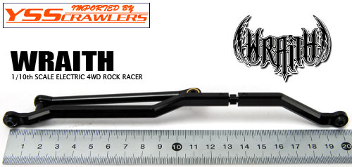 YSS Crawlers Adjustable Steering Link Version 2 for WRAITH! Full-Black Aluminum