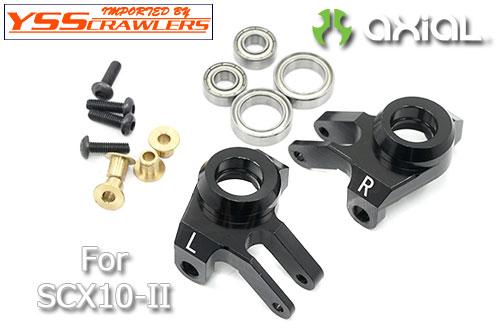 YSS XS フロント アルミナックル for Axial SCX10-II![ブラック]