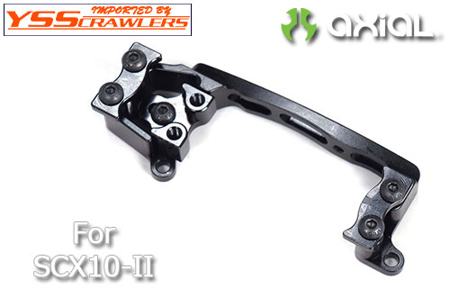 YSS Xtra Speed Aluminum 6061 T6 Servo Mount Black For Axial SCX10 II