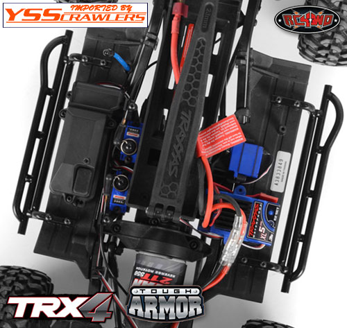 RC4WD Tough Armor Steel Welded Side Sliders for Traxxas TRX-4